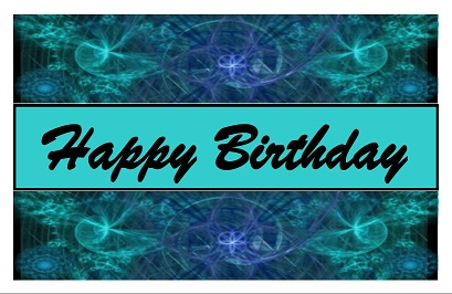 This is our free card design Color Matrix Birthday Card
